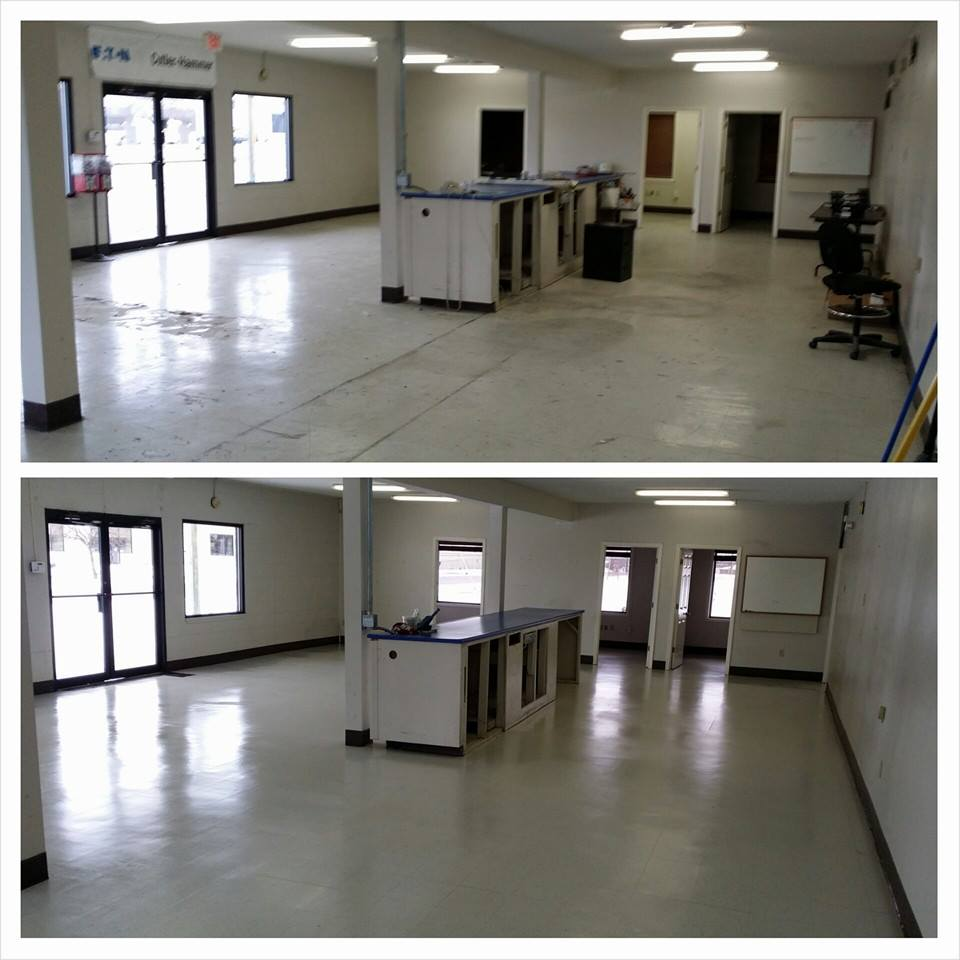 VCT Tile Cleaning, Stripping and Buffing